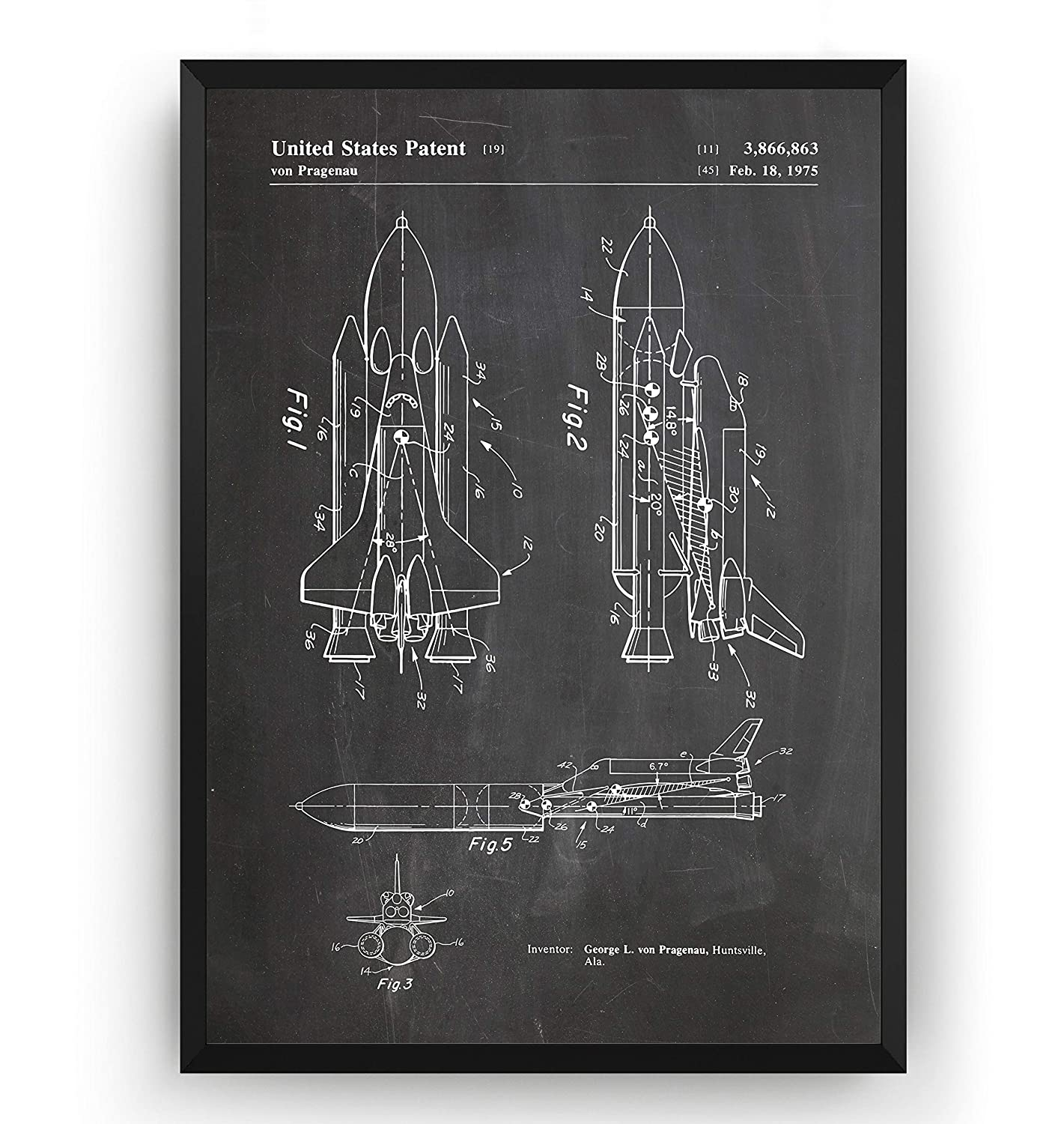 91kNrPNGwhL._SL1500_ amazon com nasa space shuttle patent print science poster outer
