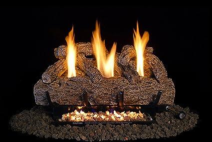 Amazoncom 24 Inch Vent Free Live Oak Log Set Lp Propane Gas