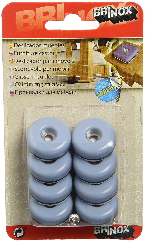 Brinox B77530G - Deslizadores para muebles (Diá metro 25 mm) color gris