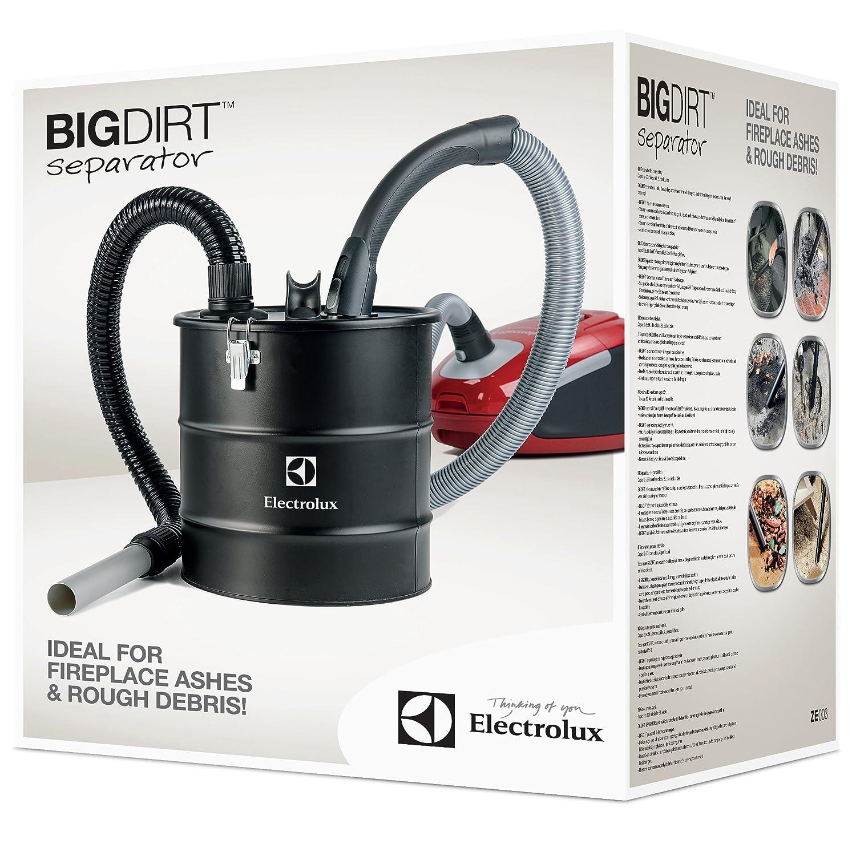 Electrolux ZE 003 Big Dirt - Separador de Suciedad de 20 L para Cenizas de la Chimenea o Barbacoa, Tierra, vidrios, serrín, 20 Liters, Negro