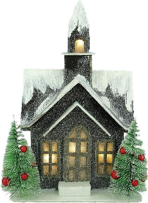Indoor 29cm Led Acrylic Santa Xmas Decoration Christmas Display Light Up