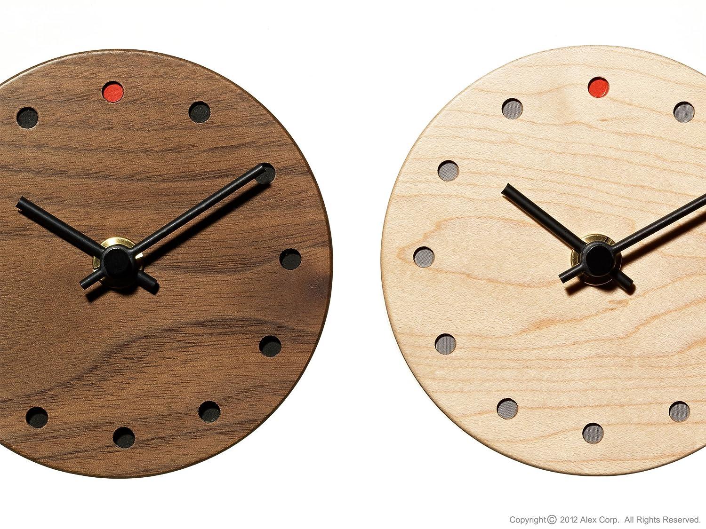 ALEXCIOUS 木製 壁掛け時計 ミニ Wall Clock Mini ウォルナット B00A0CCZ1K