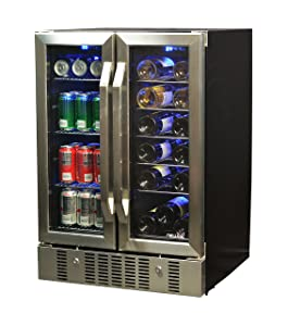 NewAir AWB-360DB Wine and Beverage Cooler Stainless Steel/Black