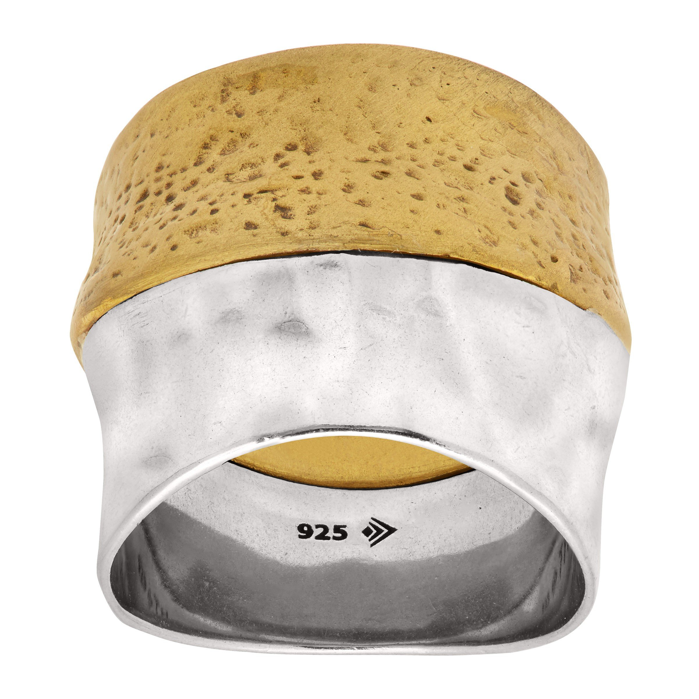 Silpada 'Rain or Shine' Sterling Silver and Brass Ring, Size 8