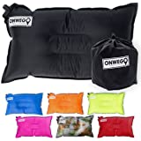 Camping Pillow / Inflatable Air Pillow-- 20in x 12in, 10.5oz, Self Inflating, Compressible-- Best for Outdoor Trips, Backpacking, Hiking, Beach, Travel, Motorcycle, Car -- By ONWEGO