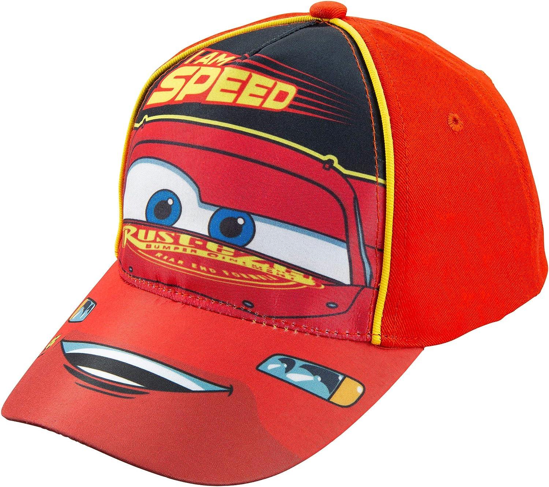 Coo-kid Lightning McQueen Hat-Kids Baseball Hat Cartoon Hat-Sun Protection Hat Adjustable Printed Baseball Cap for Children