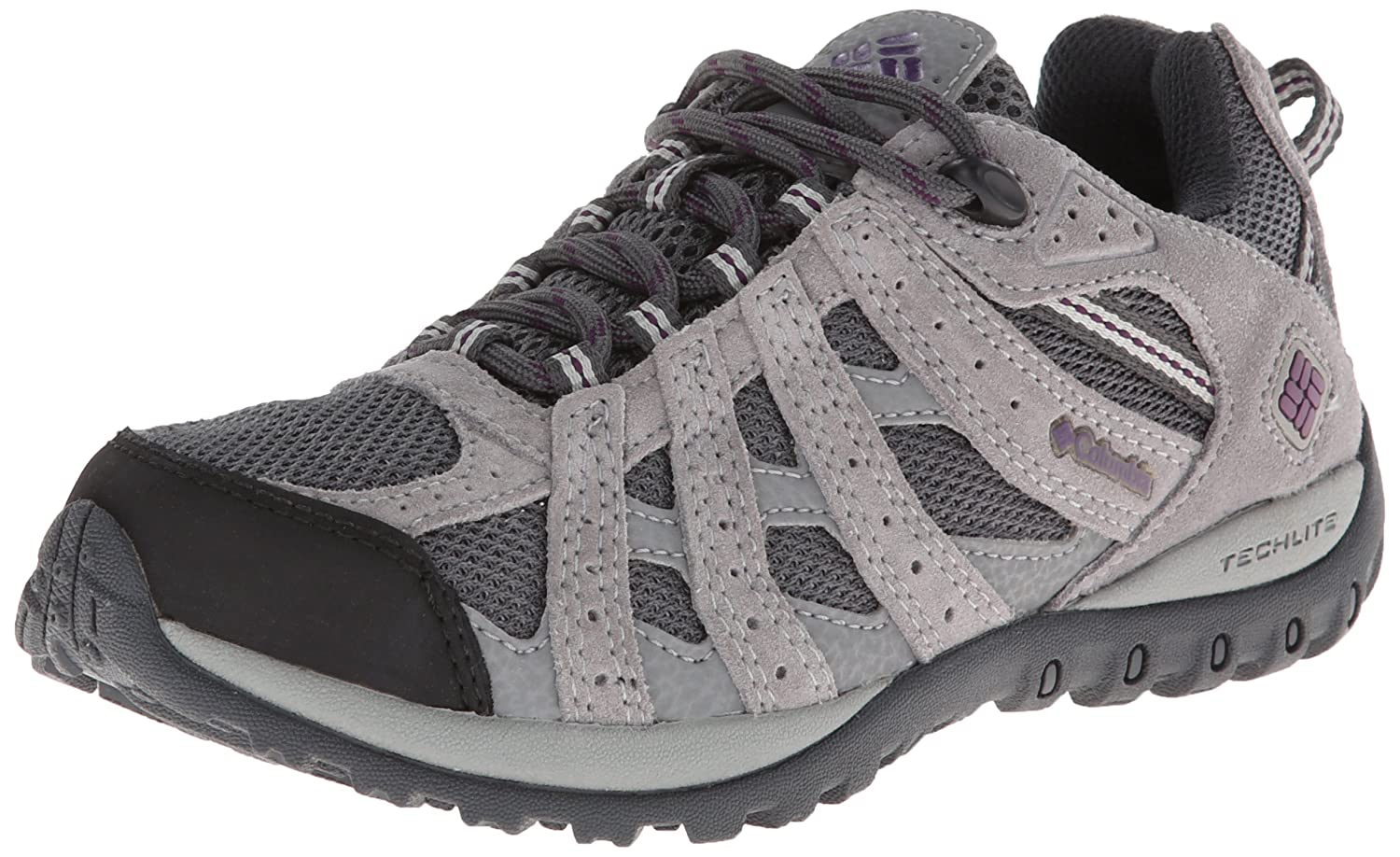 Columbia Women's Redmond Waterproof Trail Shoe B00GW8F8WY 6 B(M) US|Charcoal/Glory