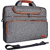 Acer Lenovo HP Dell Chromebook Ultrabook Apple Black Zipper DOMISO 14 Inch Multi-Functional Laptop Sleeve Business Briefcase Messenger Bag with USB Charging Port for 14 Laptop