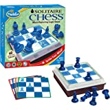 Think Fun Solitaire Chess - Fun Version of Chess You Can Play Alone, Toy of the Year Nominee for Age 8 and Up