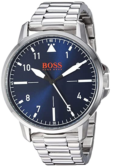 49414b1c05cf BOSS Orange para hombre  Chicago  acero inoxidable de cuarzo reloj Casual