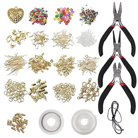 adb0d5769cdc Kit Creazione Gioielli (1027 Pcs) - Placcato Oro 100% Nickel Free -  Principiante