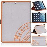 DONZO Wallet Book Tablet Tasche für Apple iPad 5 iPad Air Grau