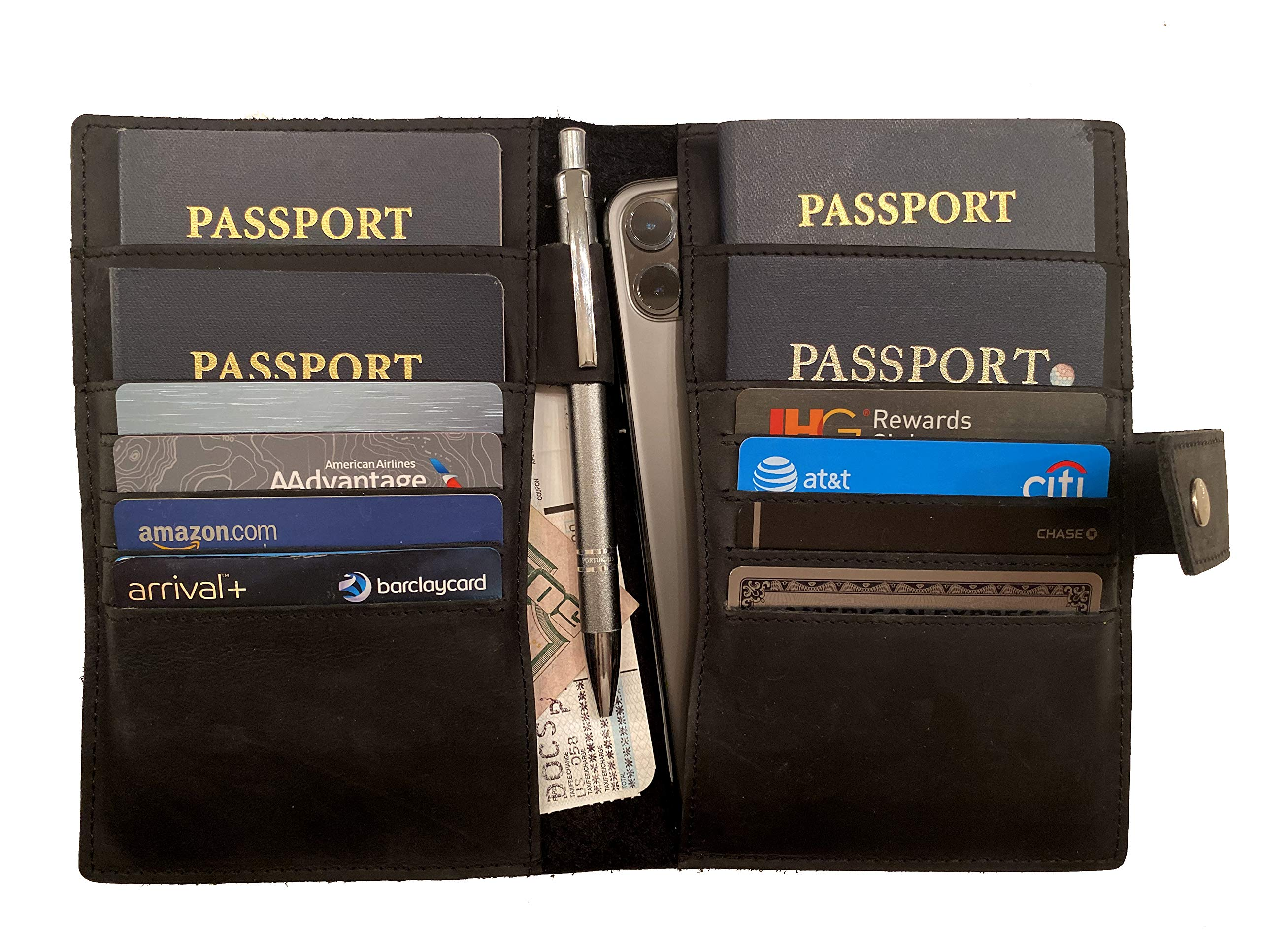Mondo Travel Pro Passport Wallet and Document Organizer for Family of Four by Mondo Travel Pro
