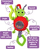 Baby Stroller Toy with VIBRATION, Car Seat Toys, Teething Toys, Infant Toys, Baby Rattle Toy, Newborn Baby Toys, Newborn Toys, Toys for Babies