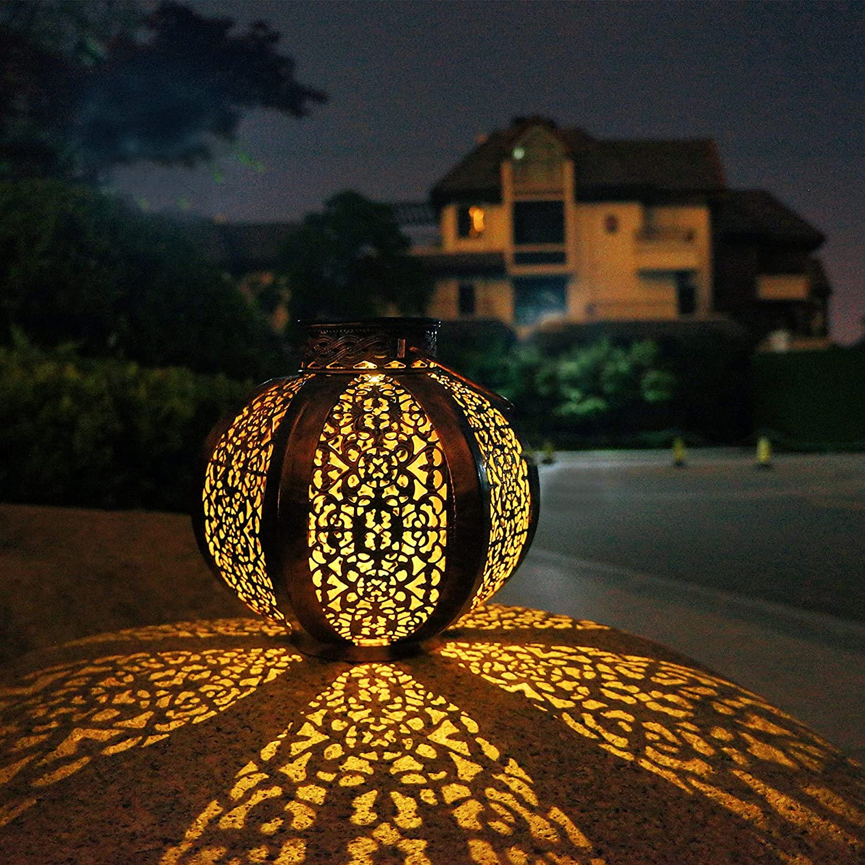 Solar Lanterns Outdoor Hanging,Waterproof Solar Lights utdoor Decorative, Solar Powered Light for Garden, Patio, Yard, Table, Pathway, Party, Tabletop, Tree, Porch, Walkway, Landscape Retro Decor
