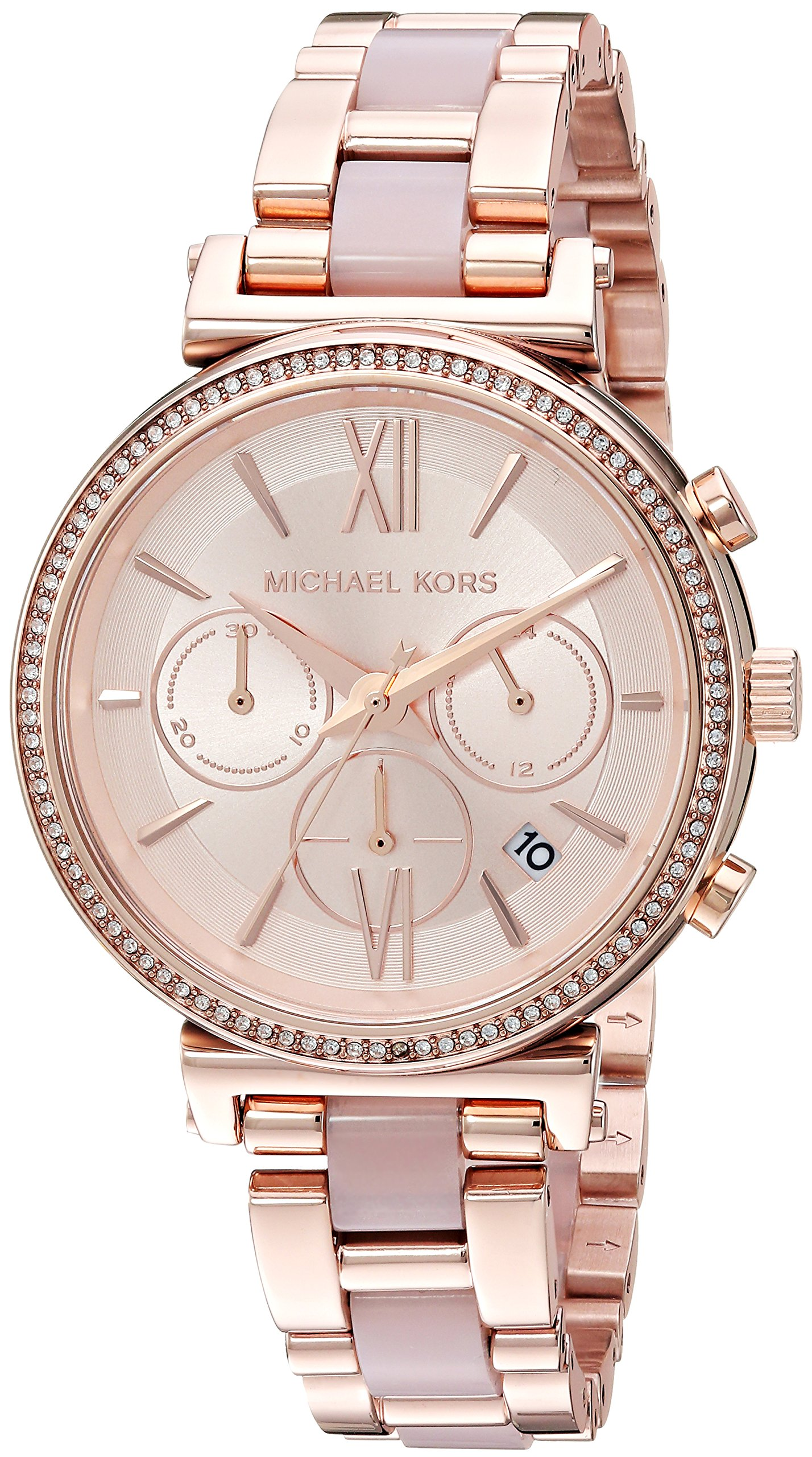 Michael Kors Women's Sofie Analog Display Analog Quartz Rose Gold Watch MK6560