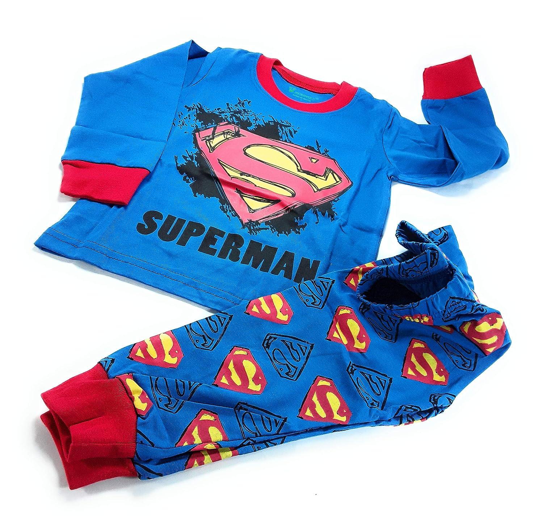 Super-Man Long Sleeve Pajama Pant Set MekilyZ /& Co