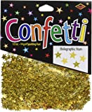Beistle CN057 Gold Holographic Stars Confetti, 1/2-Ounce