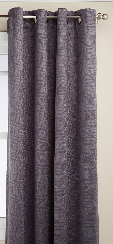 Regal Home Chevron Grommet Window Panel, 50 by 84-Inch, Gray