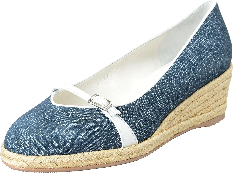 Audrey Leather Wedges Pumps Shoes Sz