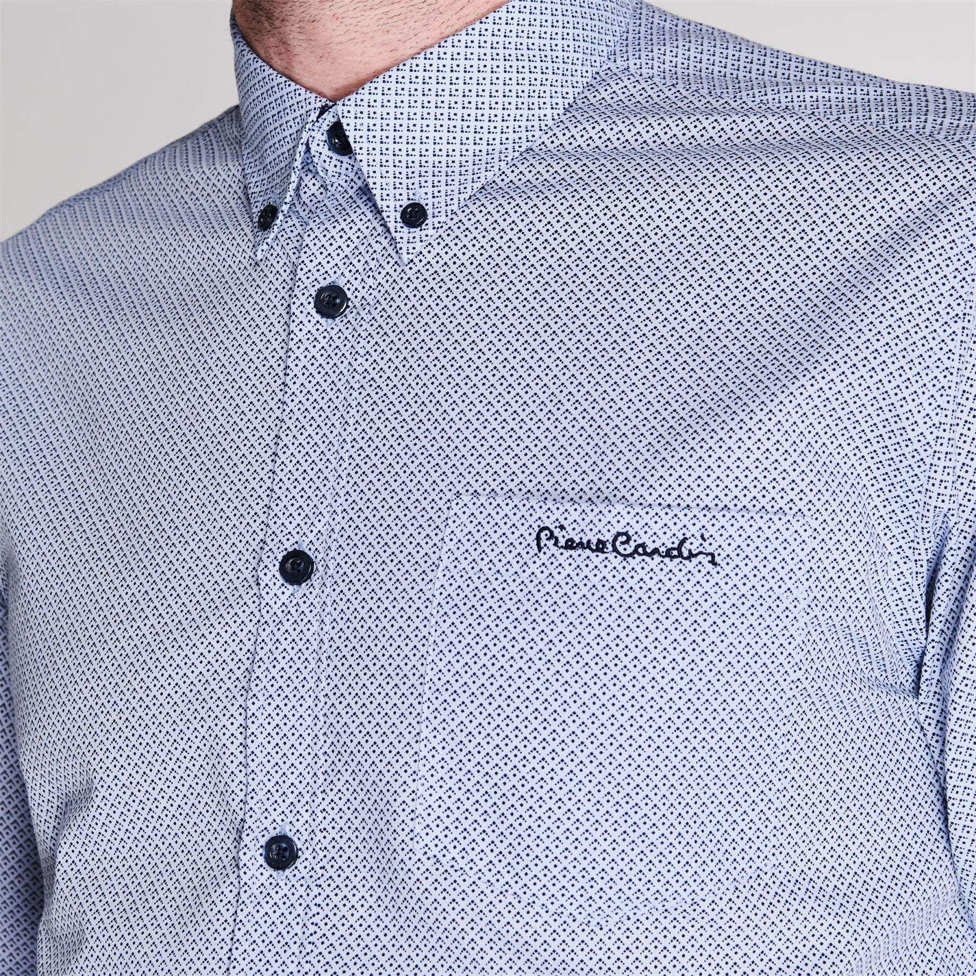 Pierre Cardin. Camisa de manga larga casual para hombre: Amazon.es ...
