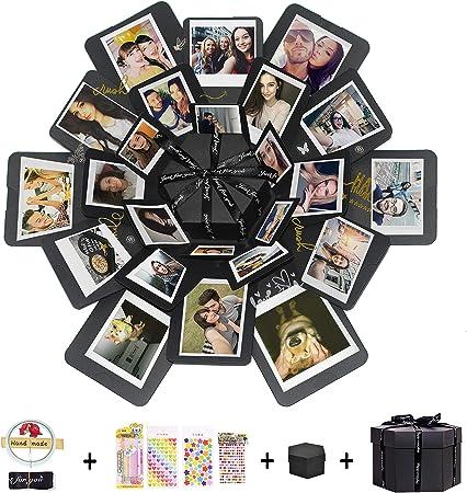 Hbsite Explosion Box Sorpresa Box Caja de Foto Hecha a Mano de Bricolaje Regalo de álbum