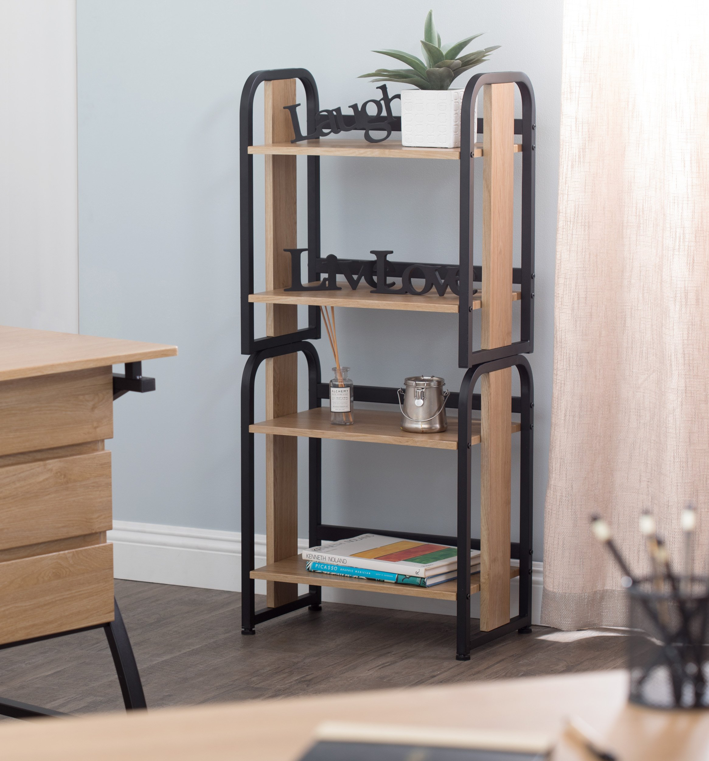Calico Designs 51249 Modern Ashwood Stackable Bookshelf, Graphite Ashwood by Calico Designs (Image #3)