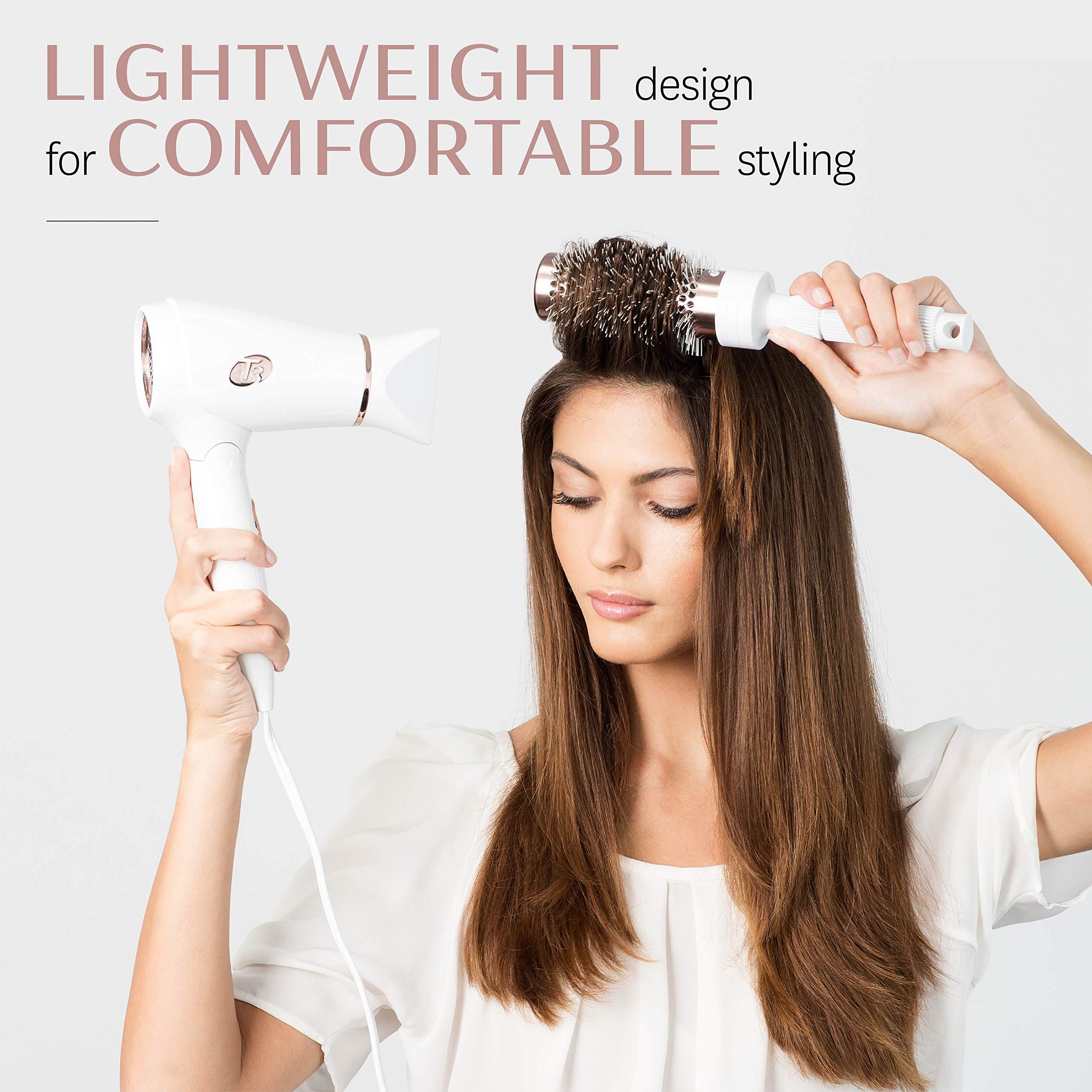 T3 - Featherweight Compact Folding Hair Dryer | Lightweight & Portable Dual Voltage Travel Hair Dryer | T3 SoftAire Technology for Fast, Healthy, and Frizz-Free Blow Drying | Includes Storage Bag by T3 Micro (Image #7)