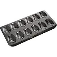 MASTERPRO MPHB66 French Madeleine Pan, Carbon Steel/Black