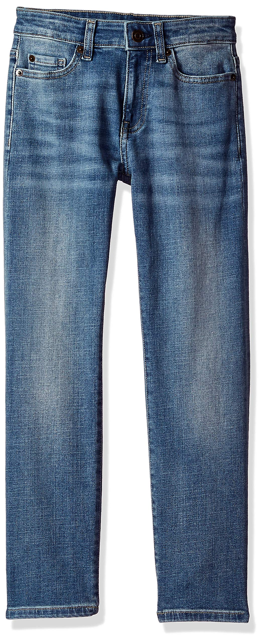 Amazon Essentials Big Boys' Straight-Fit Jeans, Doppler/Light Wash,8 by Amazon Essentials
