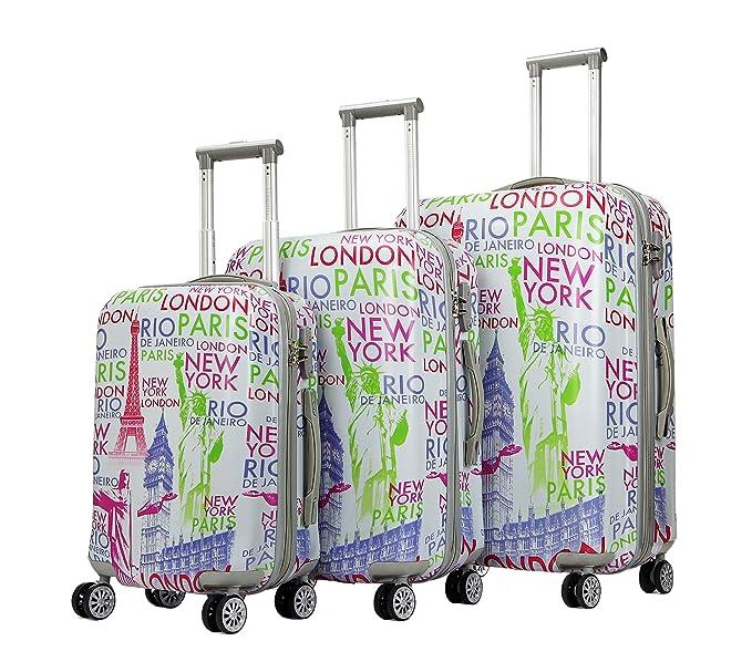 d61fe94559bc Amazon.com | TERMINAL Luggage 3 PCS Suitcase Set 20''+24
