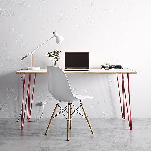 Mesa Hairpin, escritorio o mesa para comedor de mitad de siglo ...