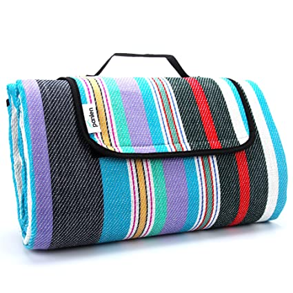 63f4f39291 Extra Large Picnic Blanket Waterproof 79 quot  x 79 quot  with Tote