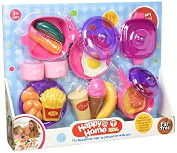 Kids Play Food U0026 Dishes Set: Toy Kitchen Accessories: Plastic Pots, Pans,