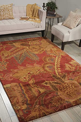 Nourison Jaipur Flame Rectangle Area Rug, 9-Feet 6-Inches by 13-Feet 6-Inches 9 6 x 13 6