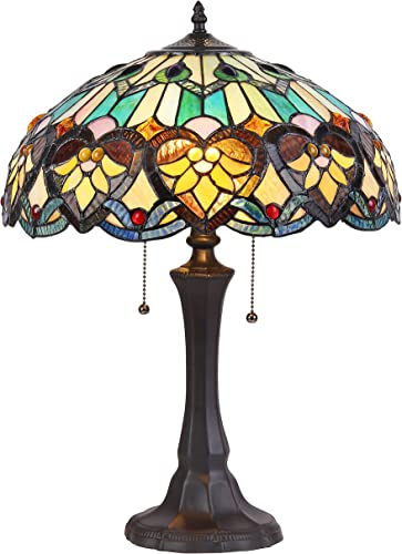 Chloe Lighting CH835576GV16-TL2 Tiffany 2 Light Victorian Table Lamp Shade, 16.1 x 16.1 x 21.7 , Multi
