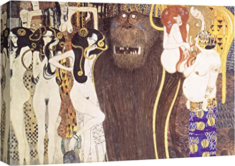 Time 4 Picture Gustav Klimt Lady with Fan Pictures Canvas Reproduction Giclee