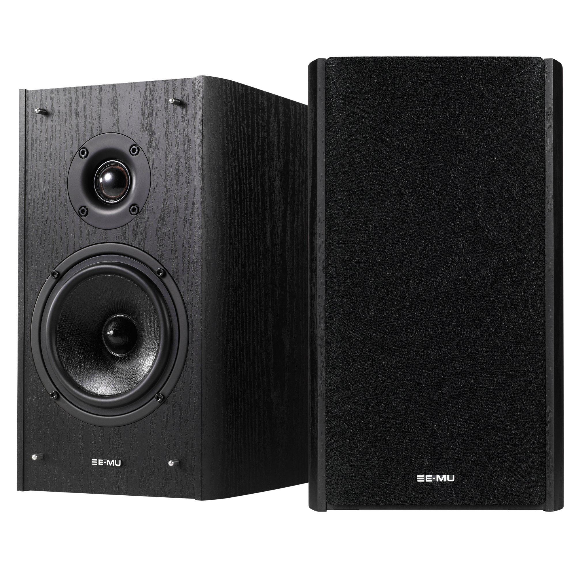 E-MU XM7 Passive Bookshelf Speakers, Black Wood Grain