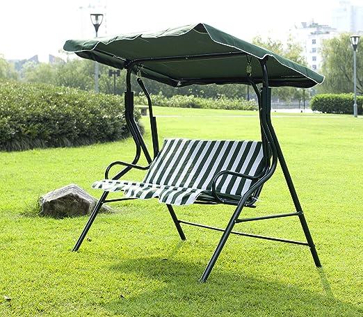 Windmax para jardín de 3 plazas hamaca Swing asiento al aire libre balanceo Banco Silla de Patio Verde: Amazon.es: Jardín