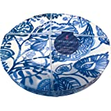 Cynthia Rowley White and Blue Leaf Melamine Salad Plates, Set of Four