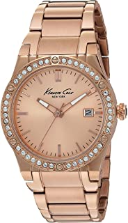 Kenneth Cole New York Womens 10022786 Classic Analog Display Japanese Quartz Rose Gold Watch