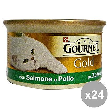 PURINA Set 24 Gourmet Salmón-Pollo Cubos 85 Gr. Comida Para Gatos
