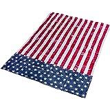 Empressia FLA-09 USA Wendedecke Flagge Amerika, Plaid, Decke / Stranddecke