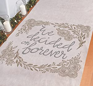 We Decided on Forever Wedding Aisle Runner - 100 feet Long - Beautiful for Rustic and Farmhouse Themed Wedding Decor