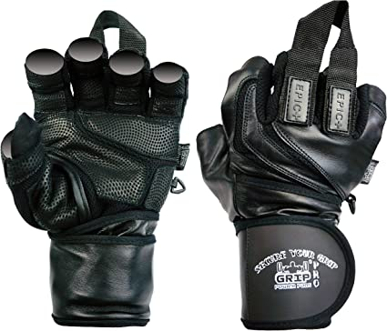 Weight training padded gloves leather fitness training gym bodybuilding