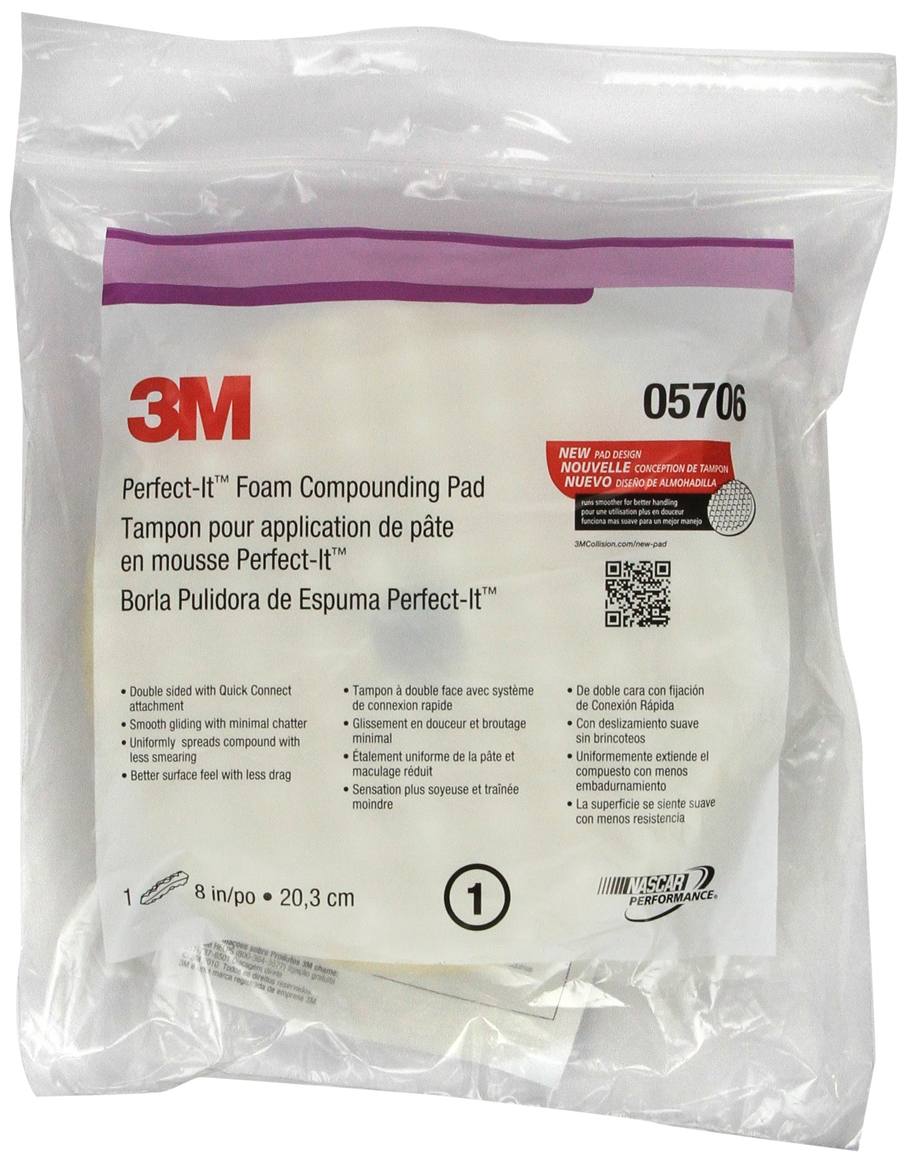 3M 05706 Perfect-It 8-Inches Foam Compounding Pad