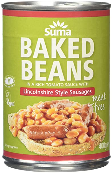 Suma Baked Beans And Vegan Sausage 400 G Pack Of 12 Amazon Co Uk Grocery
