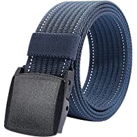 Men Nylon Military Tactical Belt,Plastic Buckle,49inch