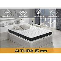 Relaxing-Confort Basic 15 5.0 Colchón Visco Elástico, Algodón-Poliuretano