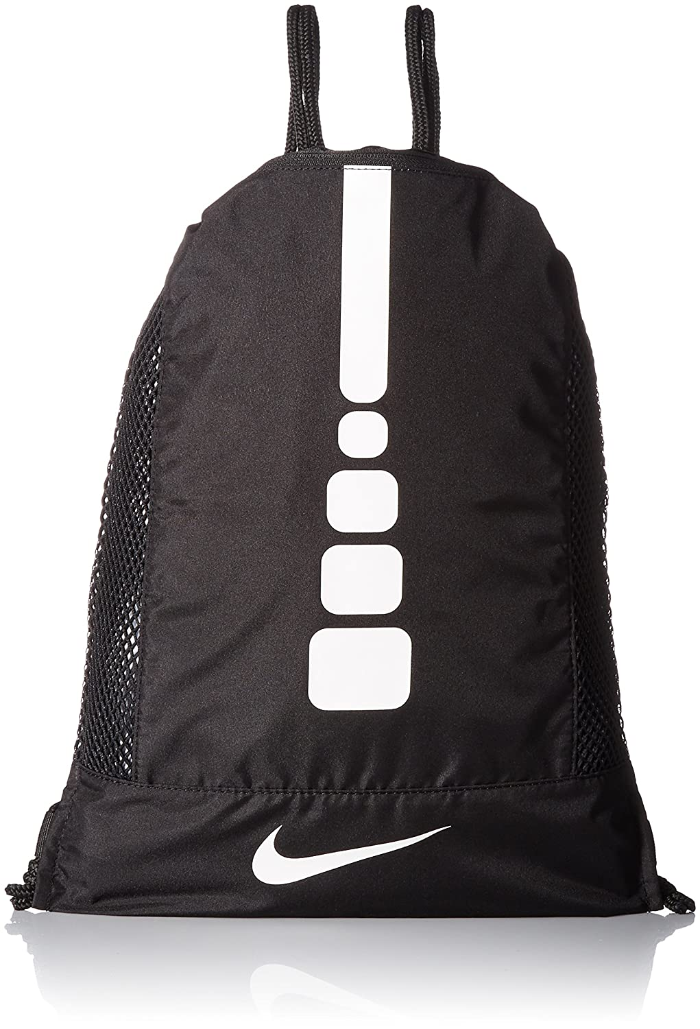 Amazon.com  Nike Men s Hoops Elite Basketball Gym Sack (Black Black White)   Sports   Outdoors 9e9699f6fb